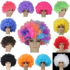 2014 12 Colours Curly Afro Fancy Dress Funky Wig Disco Clown Mens/Ladies Costume