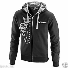 Official Scania Griffin Logo Hoodie Mens Men's Black 42 44 46 CHEST L XL XXL New
