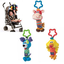 Kids Baby Soft Animal Handbells Rattles Bed Stroller Bells Developmental Toy New