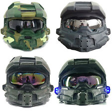 Halo 4 Helmet Master Chief Full Face Removelable Homeycomb Glass Cosplay Mask
