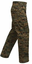 H.W. Woodland Digital Camouflage Military BDU Cargo Fatigue Camo Pants 8675