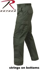 OD Green 6-Pocket Military 100% Cotton Rip-Stop BDU Cargo Fatigue Pants 5935