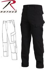 Black Police Military Uniform Tactical Rip-Stop BDU Pants 5455
