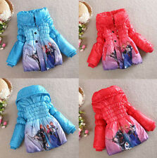 New Girls Elsa Anna Frozen Queen Snowsuit Slim Lined Outwears Coat Jacket Suits