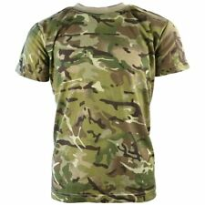 Kids Boys British Army Camo T Shirt Military Soldier Short Sleeve Tee MTP Style