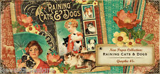 Graphic 45 Raining Cats and Dogs 12x12 Scrapbooking Paper Pages