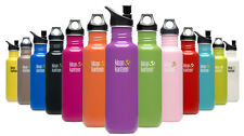 KLEAN KANTEEN 800ml CLASSIC WATER BOTTLE WITH SPORTS or LOOP TOP. 10 COLOURS