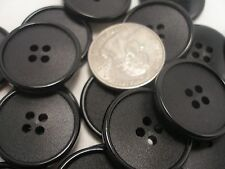 New lots of 8 Large Black Buttons 1''Inch Coat, Blazer Suit  25 mm #CH