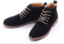 Men's Winter Casual Suede Leather High Top Military Comfy Shoes Ankle Boots 579