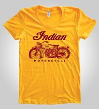 Classic Indian Motorcycle red Graphic on Women's American Apparel T-shirt