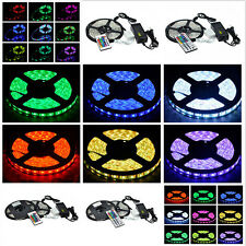5/10M SMD RGB 5050 Non Waterproof 300 LED Strip Light 24/44 Key Remote 12V Power