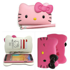 Hello Kitty Case Galaxy Note5, Note4, Note3 Wallet Clutch Case Cover 3Colors