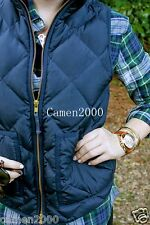 NWT JCrew Factory Novelty Excursion Quilted Puffer Vest Navy XXS XS S M L XL XXL