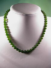 Natural green jade beaded necklace (8mm or 5mm jade beads)