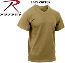 Coyote Brown Tactical Military Police Short Sleeve 100% Cotton T-Shirt 7848
