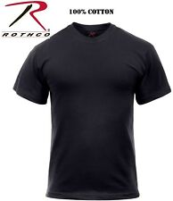 Black Tactical Military Police Short Sleeve 100% Cotton T-Shirt 6989