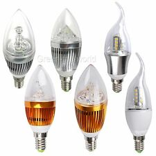 LED E14 Candle Candelabra light lamp bulb Globe 9W/12W 85-265V Wam/Cool white ST