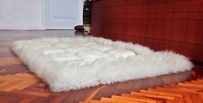 LARGE SUPER SOFT 100% ALPACA LLAMA FUR LUXURY HANDMADE RUG CARPET ECUADOR