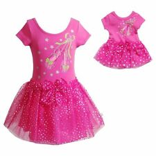 Dollie & Me Girl 10-12 and Doll Matching Leotard Outfit Clothes American Girl