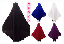 Long Overhead Abaya Jilbab Islamic Clothes Attire Women Prayer Dress Abaya