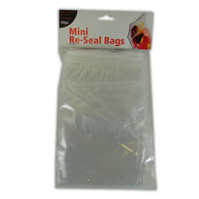 SELF SEAL BAGS - RESEALABLE POLYTHENE PLASTIC GRIP SMALL MEDIUM LARGE CLEAR NEW