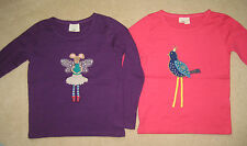Mini Boden Applique T Shirt Top 1.5 to 12 years Angel Ballet Mouse Bird metallic