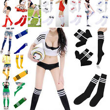 8 Colors Unisex Baseball Football Sports Over Knee Ankle Striped Pattern Socks