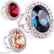 huge gorgeou 18KT White Gold Filled Ruby 9ct silver Ring Size6-size10 wedding