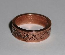 "Coin Ring""Handmade"" from 100 year old Canadian large cent  6-13"