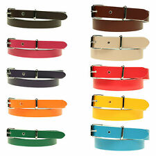 Ladies Skinny Thin Dress Fashion Waist Colourful Leather Belt Made in the UK
