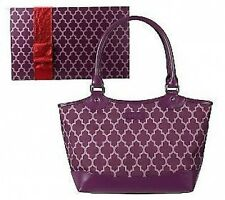 TRELLIS PRINT REUSABLE POLYESTER LUNCH TOTE WITH MATCHING GIFT BOX FROM *SACHI*