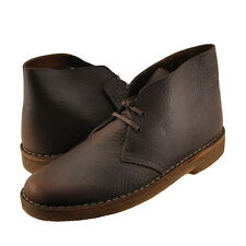 Men's Shoes Clarks Originals Desert Boot 67905 Lace Up Brown Oily Leather *New*