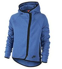 New with tag Girl NIKE Tech Fleece cape full zip hoodie jacket BLUE 669804-456