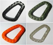 1 x New High Quality Grimloc Carabiner D-Ring Plastic 3 Colors