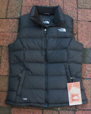 THE NORTH FACE WOMENS NUPTSE DOWN VEST- JACKET-- BLACK- AUDP- XS,S,M,L,XL,-  NEW