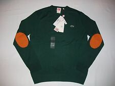 NWT LACOSTE Live Mens Lightweight Ultraslim Wool  Sweater Jacket Elbow Patch
