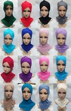 New Style Cotton Cross Muslim Cap Islamic Inner Scarf Hat Ninja Sport Hijab