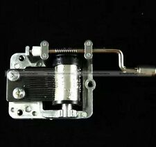 Music Box Movement Mechanical Musical Craft DIY Accessories Hand Crank 18 notes