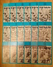 Cardiff Rugby Programmes 1981 - 1982
