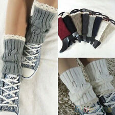 Stunning Crochet Knitted Lace Trim Toppers Cuffs Liner Leg Warmers Boot Socks