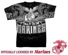 US Marine Corps T-shirt TELL IT TO THE MARINES Eagle Globe and Anchor USMC S-3X
