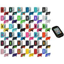 For Apple iPhone 5C Hybrid Heavy Duty Hard/Soft Cover Case Stand+Sticky Pad
