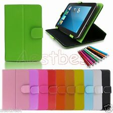 "Carry Leather Case Cover/Pen For 7"" 7-inch Polaroid Android Tablet WN2"
