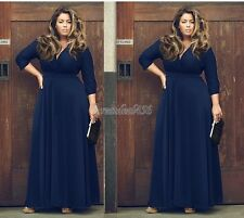 PLUS SIZE 1X 2X 3X Women Long Maxi Summer Cocktail Party Evening Long Maxi Dress