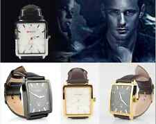 New CURREN Casual Square Dial Date Paux Leather Band Analog Quartz Wrist Watch