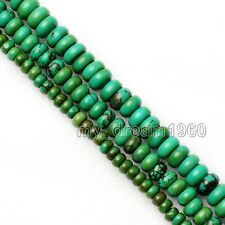 4x6mm 5x8mm 10X6mm Natural Turkey Turquoise Abacus Loose Beads Gemstone 15''