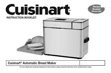 Cuisinart Bread Machine Manual CBK250U, Q119A
