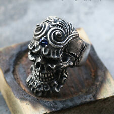 Handmade Heavy 925 Sterling Silver Avarice Skull Rings Gothic Metal Purity 92.5
