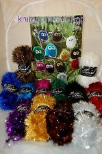 Knitted Tinsel Owl Toy YARN KIT - Make your own Owl - 3 Sizes on the pattern