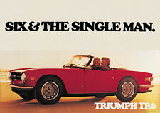 Triumph TR6 'The Single Man' Stampa Immagine Macchina Classica A1 Stag & Herald